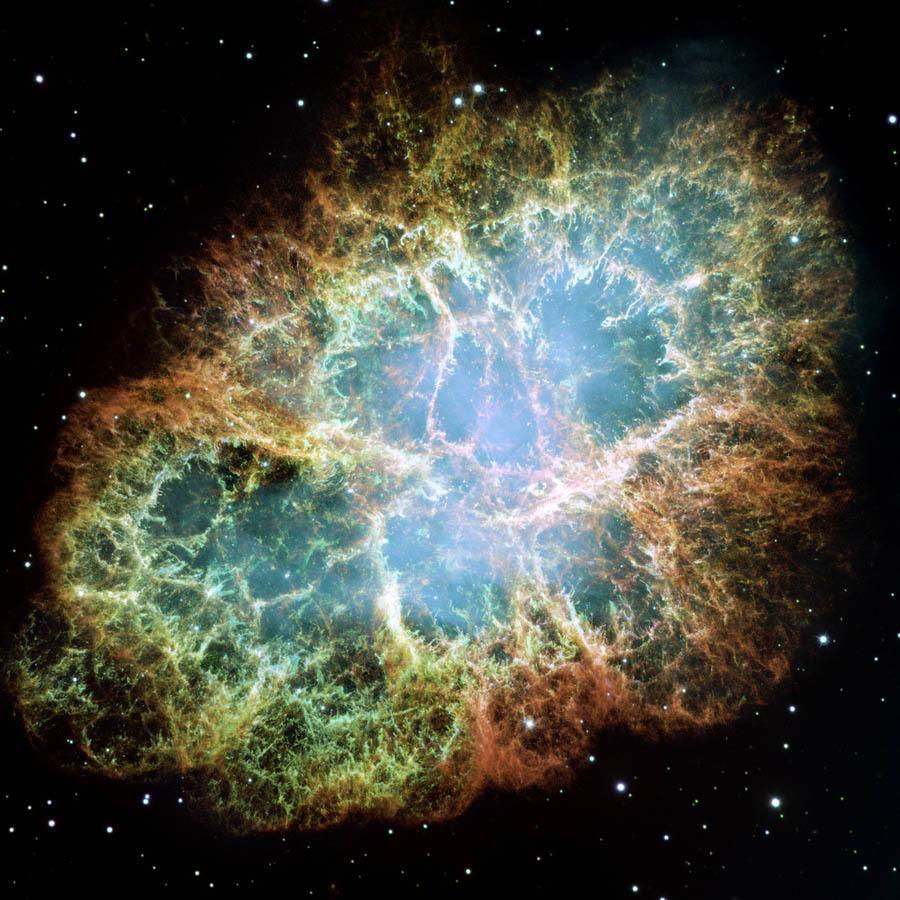 Hubble Flickr Crab Nebula