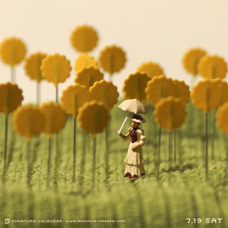 Sunflower Scene