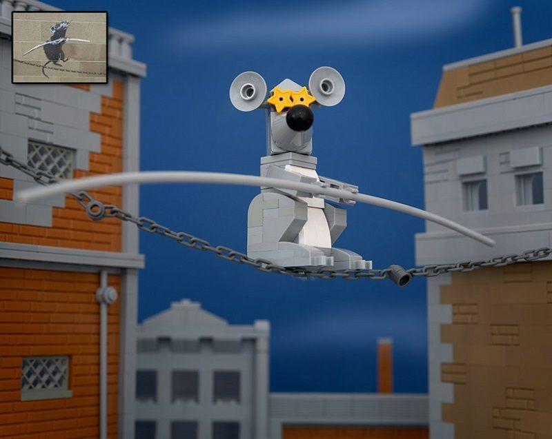 Bricksy Mouse Banksy