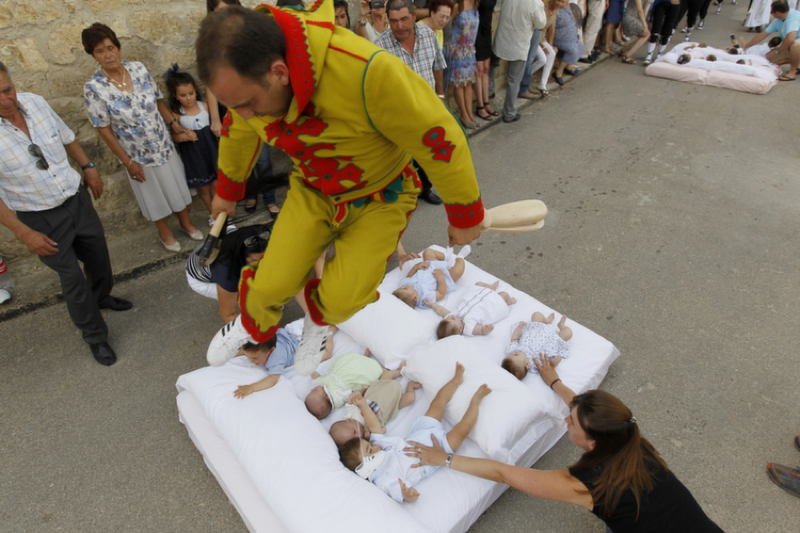 Bizarre Festivals El Colacho In Spain