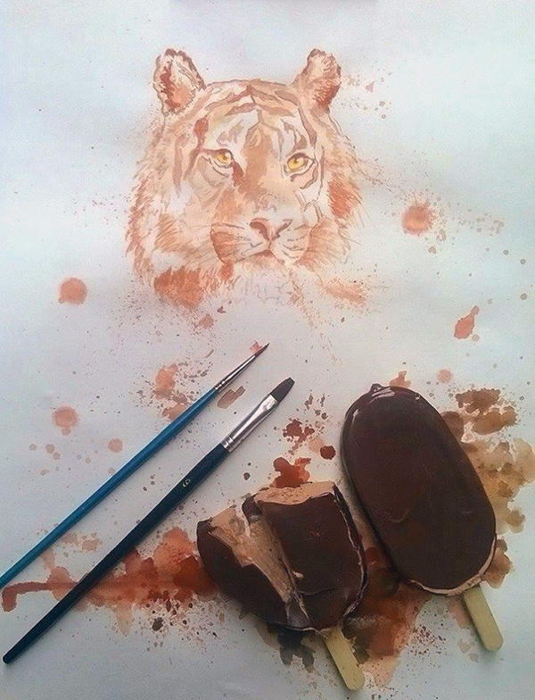 Ice Cream Paintings Tiger