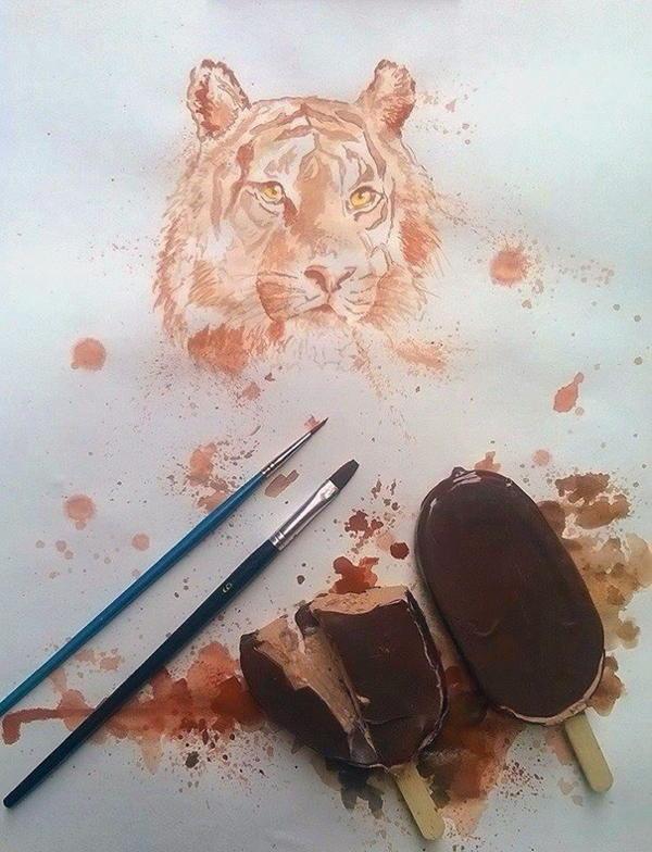 Ice Cream Paintings Tiger