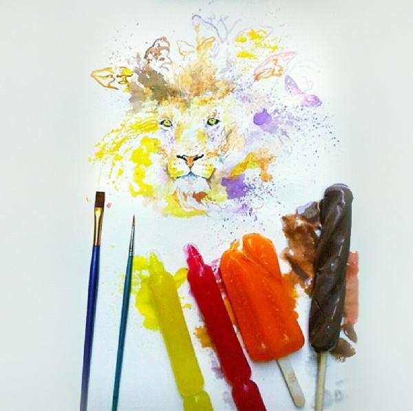 Ice Cream Paintings Lion