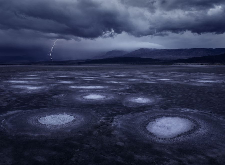 Lightning Storm Over Death Valley