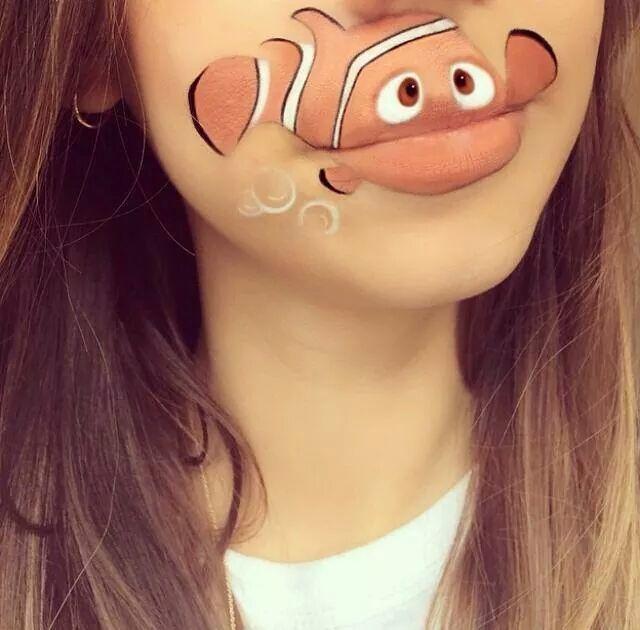 Mouthful Makeup Fish