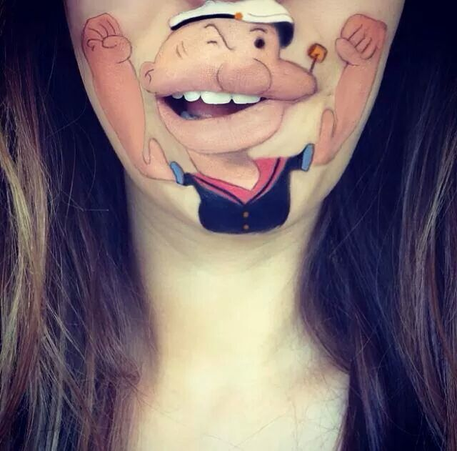 Mouthful Makeup Popeye