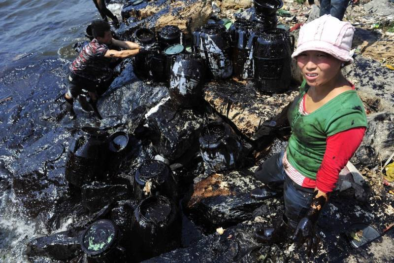 Oil Spill In China