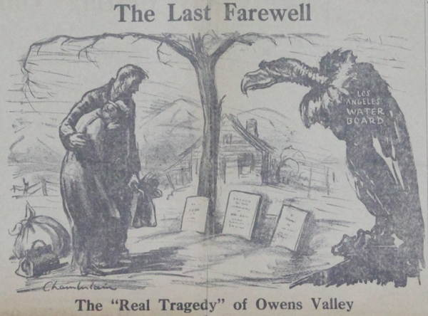 Owens Valley Protests Cartoon