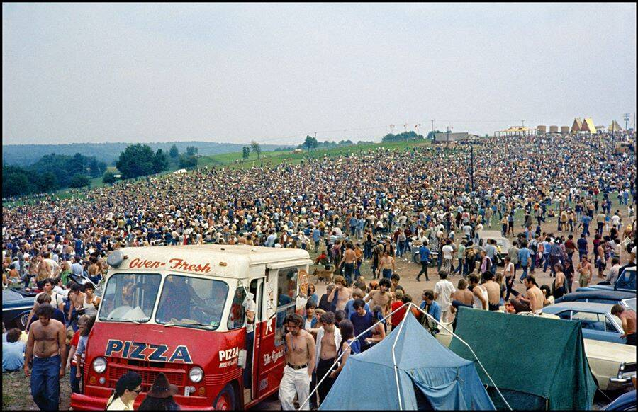 Pizza Food Truck At Woodstock
