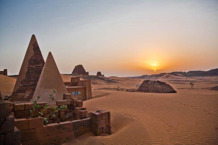 Meroe Pyramids Sunset