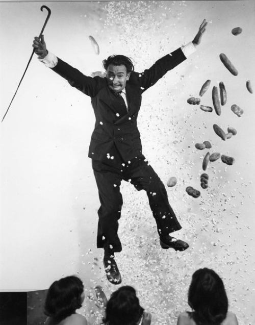 Salvador Dali Picture With Baguettes
