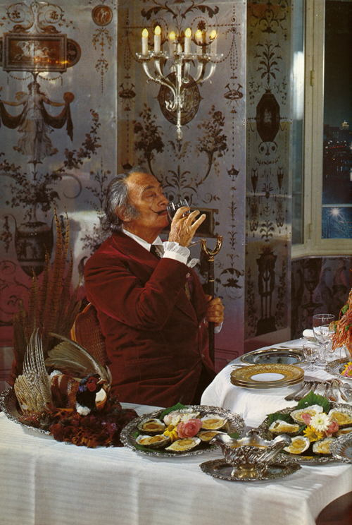Salvador Dali Eating