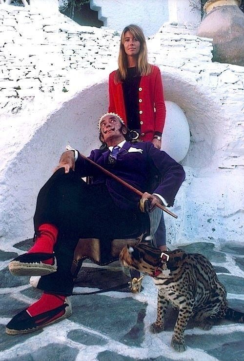 Salvador Dali With Francoise Hardy