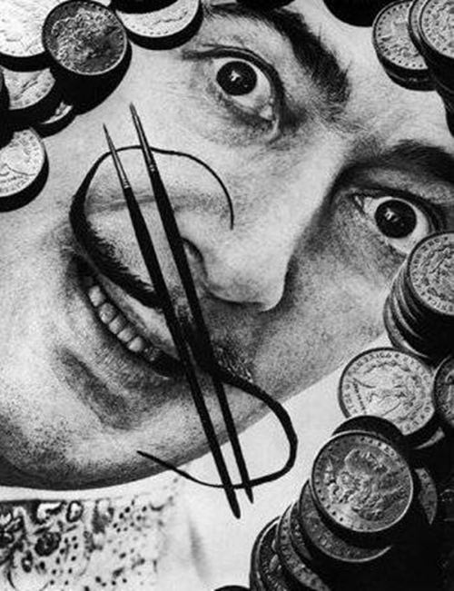 Salvador Dali Money Stache