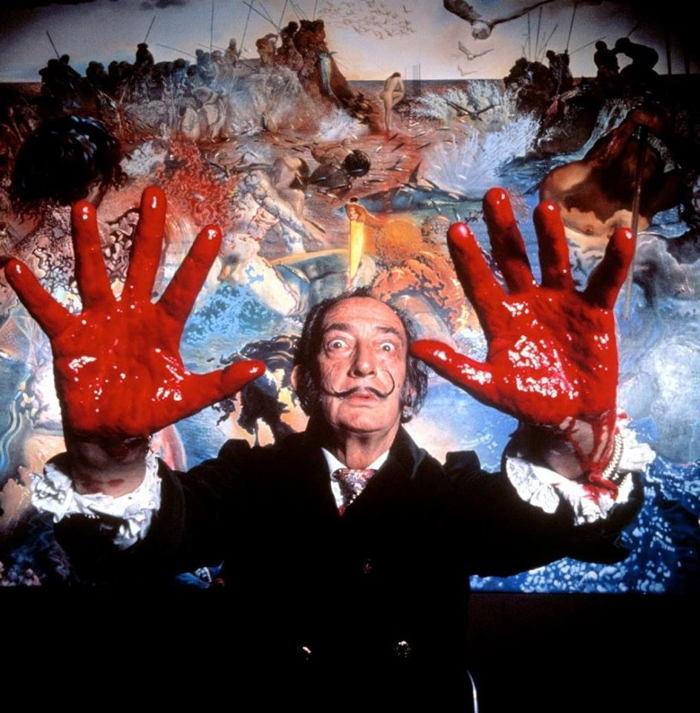 Salvador Dali Red Hands