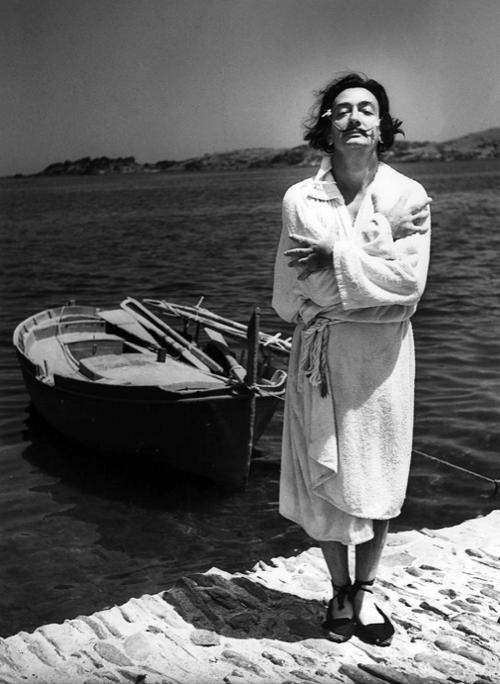 Salvador Dali In A Robe