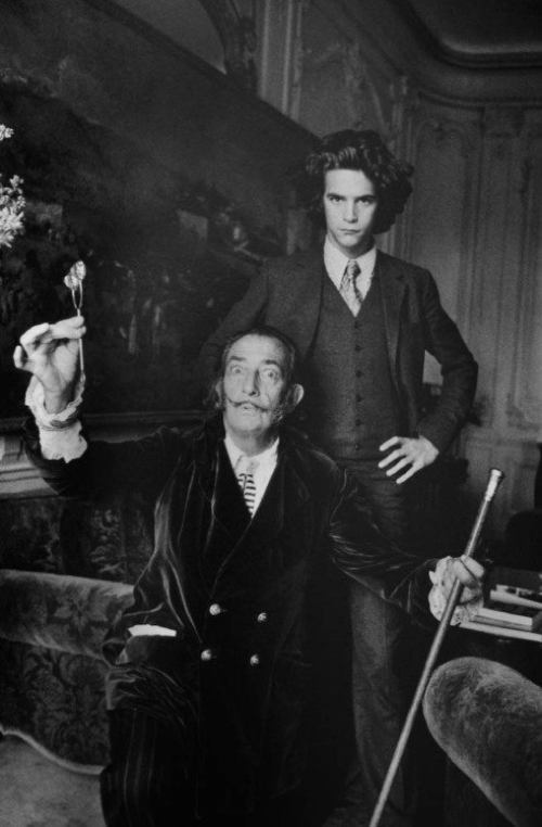 Salvador Dali With Yves St. Laurent