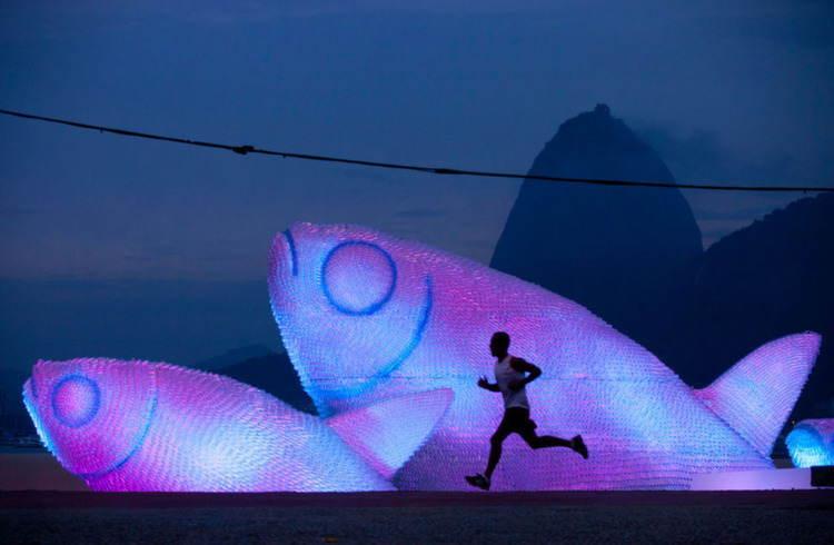 Nontraditional Sculptures Purple Bottles