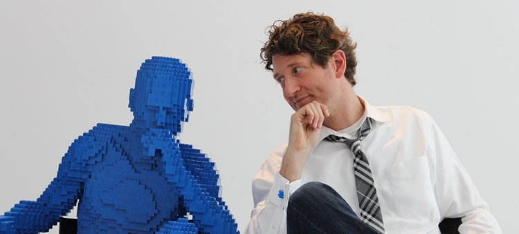 Nontraditional Sculptures Blue Lego