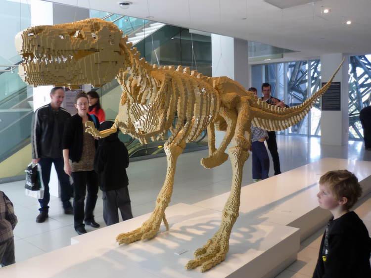 Nontraditional Sculptures Lego T Rex