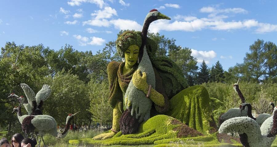 Inside The Montréal Botanical Garden In, Montreal Garden Sculpture