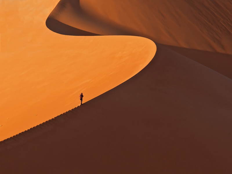 Small Man Nature Desert