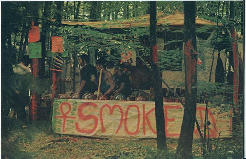 46 Years Ago Today, 500,000 People Descended On A Farm For The Greatest Music Festival Of All Time Smoke-sign