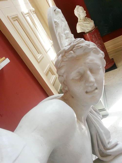 Statue Selfies Pain