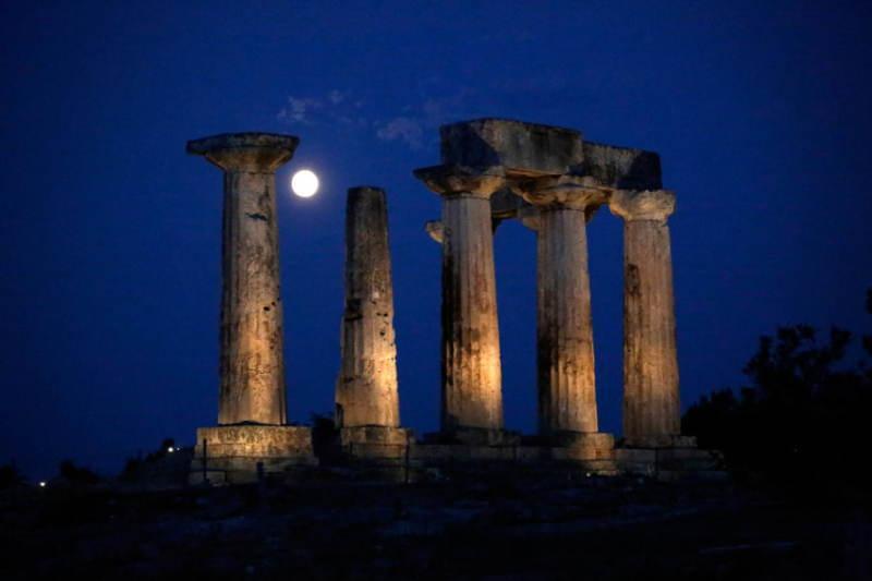 Supermoon Greece