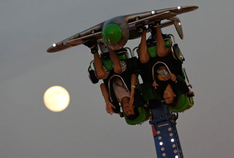 Supermoon Wisconsin Coaster