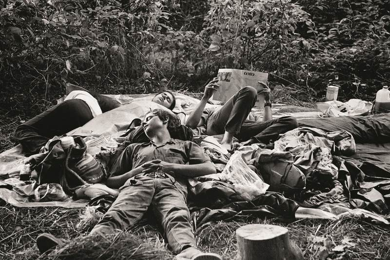 Taking A Break At Woodstock