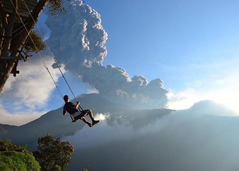 Man Soars Above Clouds