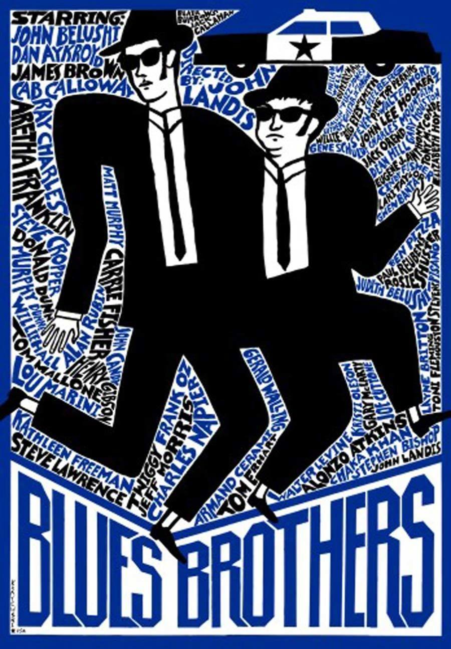 Vintage Polish Movie Posters Blues Brothers