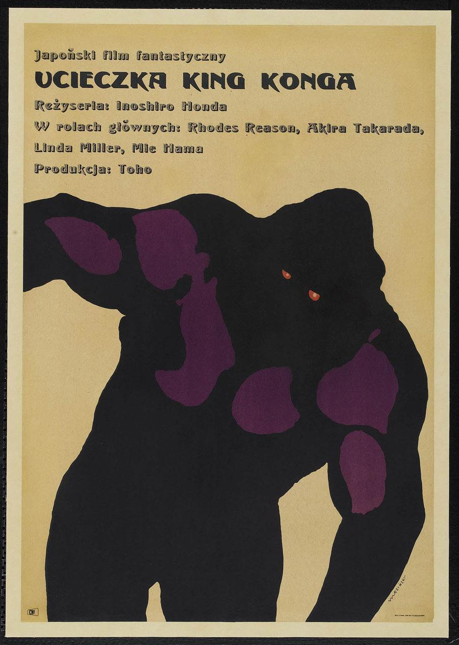 Polish Poster For King Kong