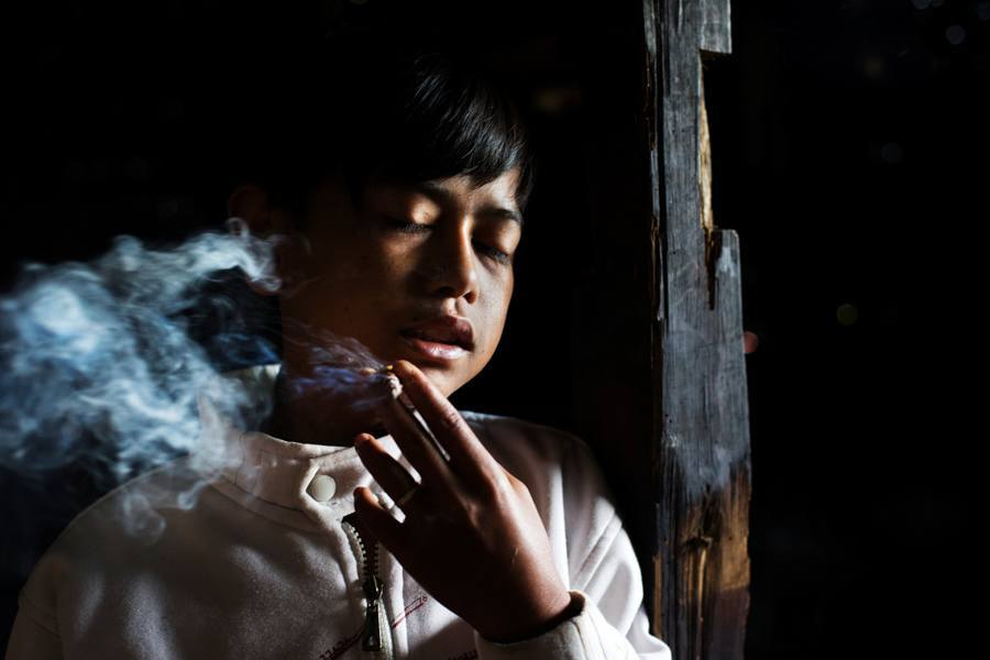 Indonesian Child Smokers First Day