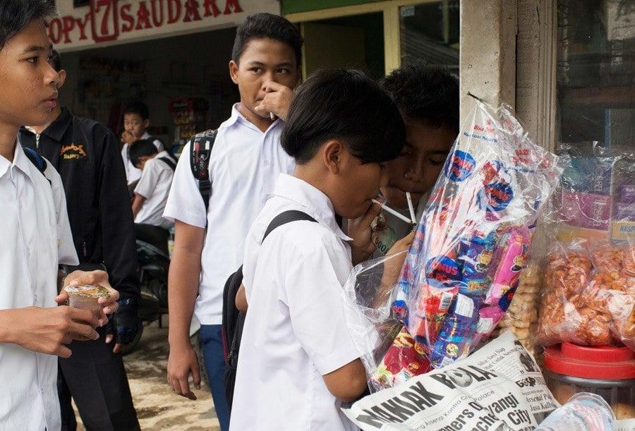 Indonesian Child Smokers Hide