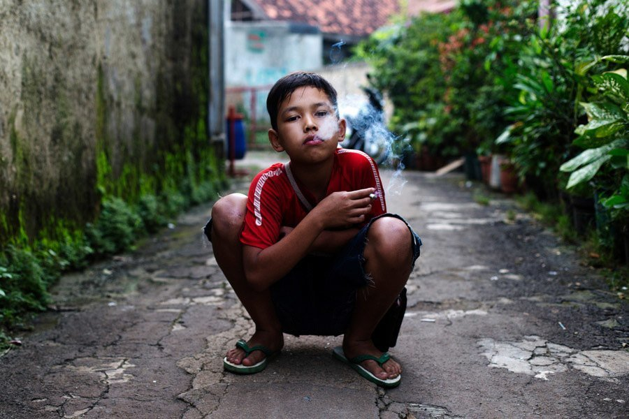 Indonesian Child Smokers Alley
