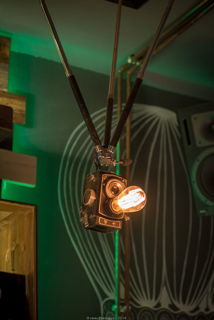 Steampunk Cafe Lights Camera Action