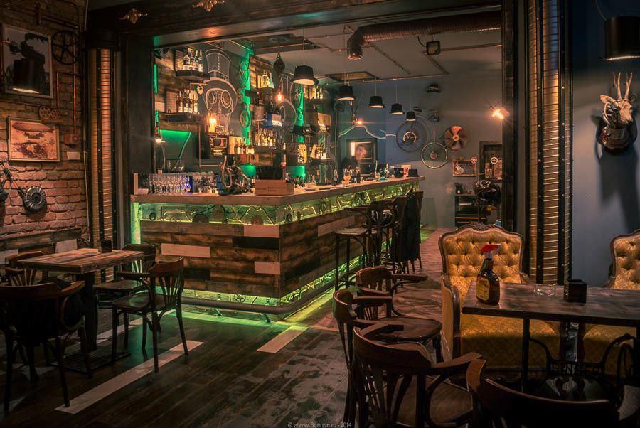 Steampunk Bar Main Counter