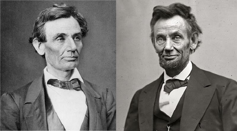First And Last Portrait Abraham Lincoln President