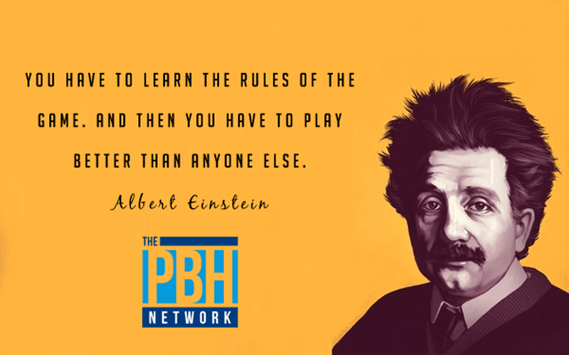 Albert Einstein On Learning The Rules Of The Game