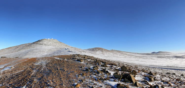 Snow In Atacama Desert