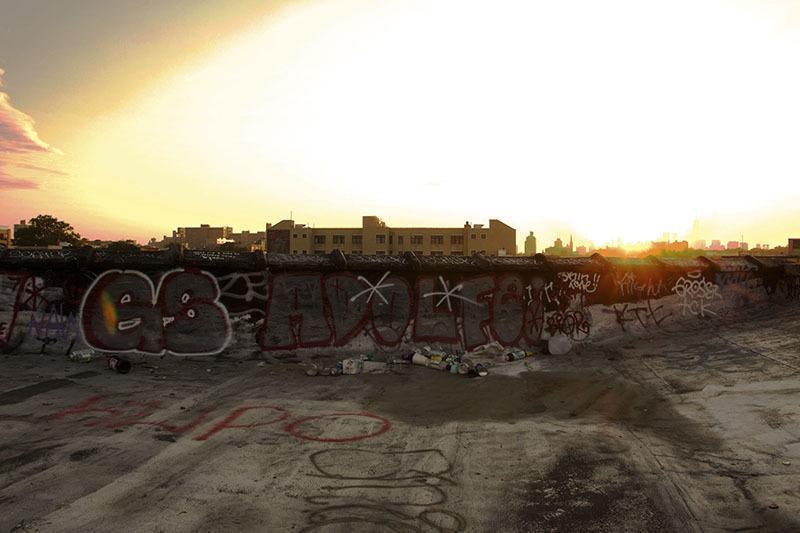 Bushwick Graffiti Balcony