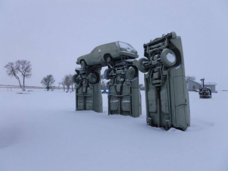 Statue Winter