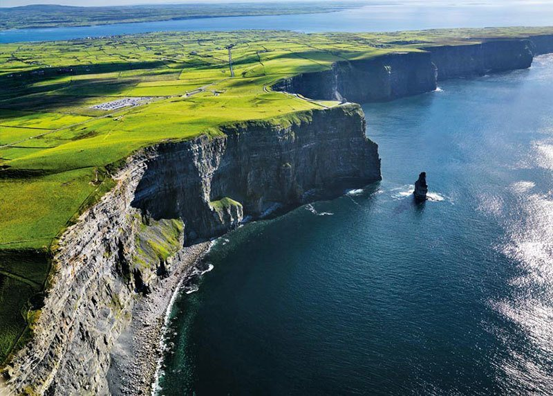 Aerial View of Cliffs