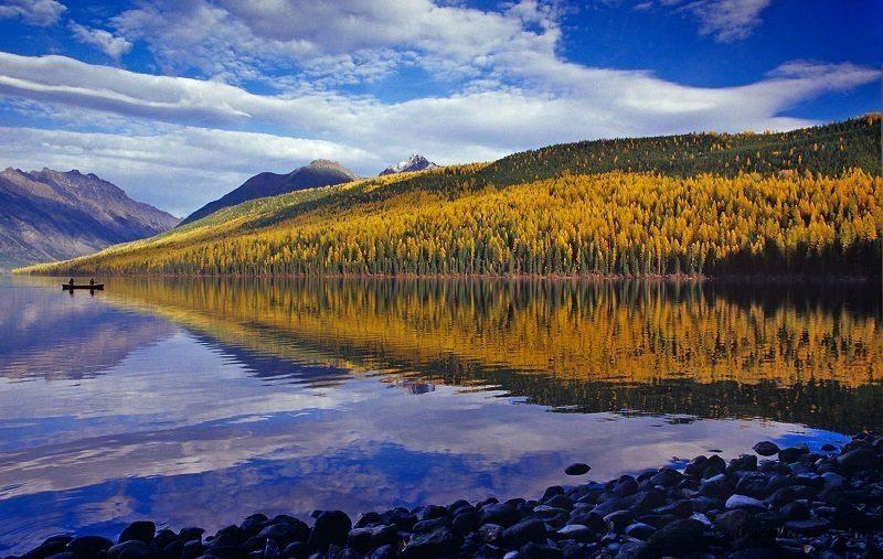 Kintla Lake in Fall