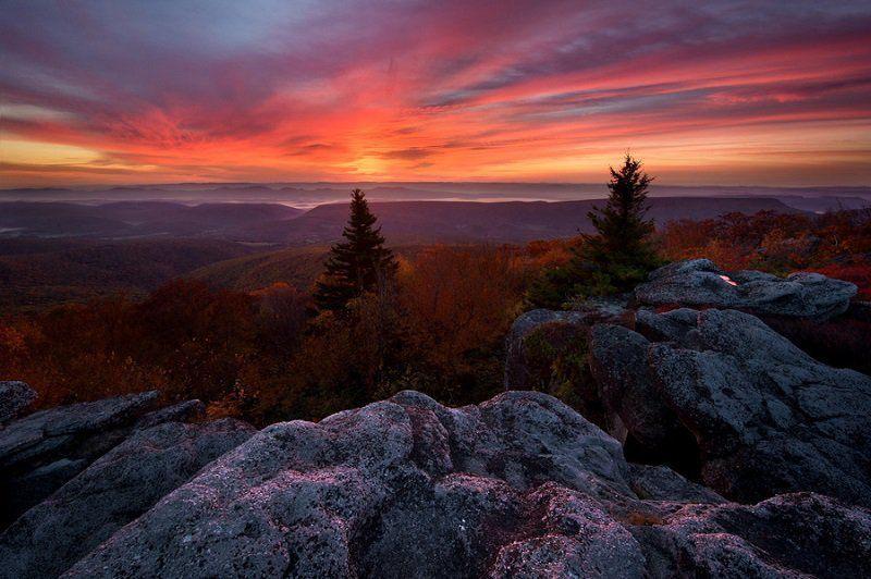 Bear Rocks Colorful Fall Photos