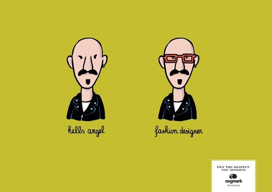 Creative Ads Fashion Designer Versus Hells Angel