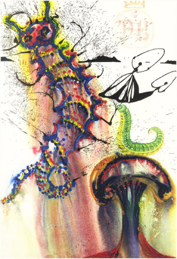 Dali Alice In Wonderland Caterpillar