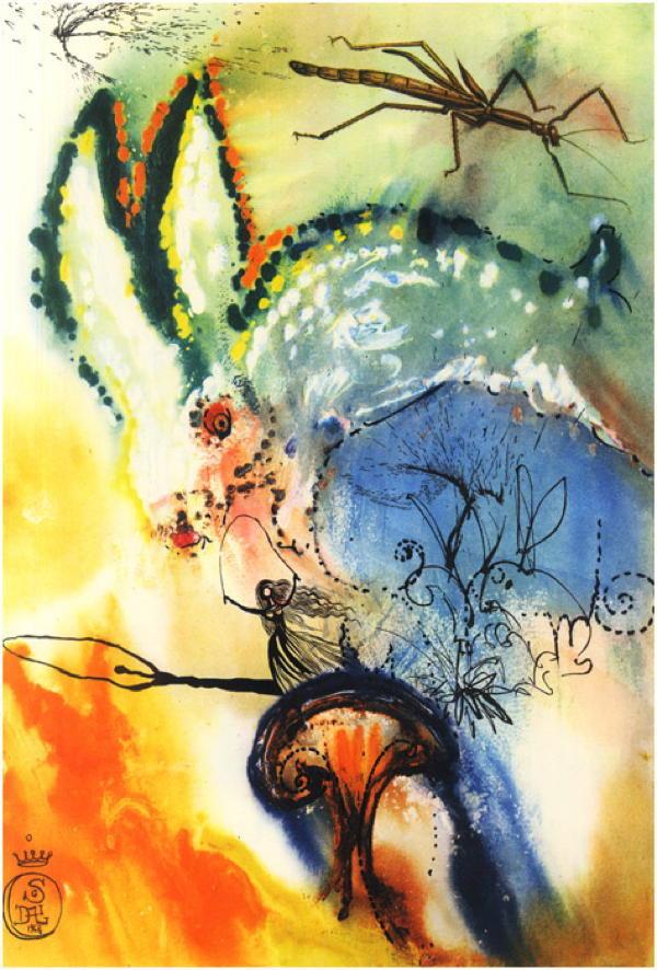 Salvador Dali Alice In Wonderland Picture